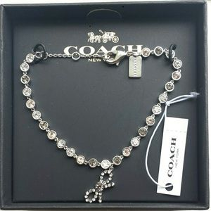 Coach Bow CHAIN BRACELET MULTI/SILVER